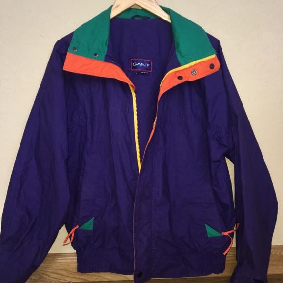 86088b6797f Gant Jackets & Coats | Vintage Neon Windbreaker Jacket | Poshmark